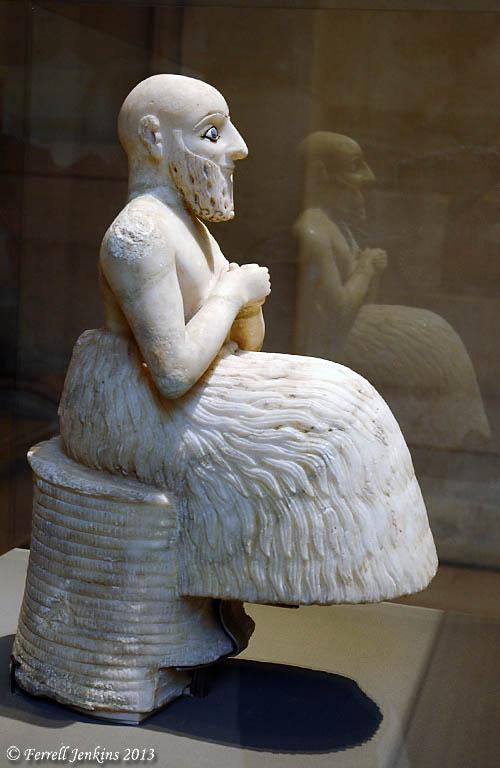 Attendant to Ebih II of Mari. Louvre. Photo by Ferrell Jenkins.