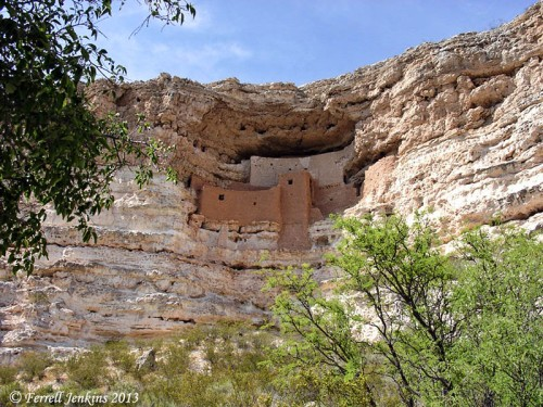 Montezuma Castle National Monument. Photo by Ferrell Jenkins, May, 2003.