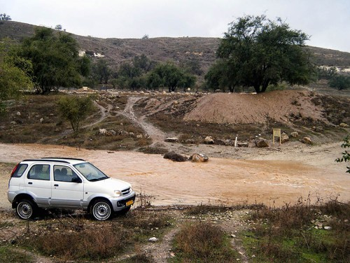 Flooding of the Elah River next to Safi. Photo by Uri Yehuda.