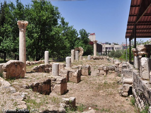 Byzantine church ruins at the Greek Orthodox site of the Shepherd's field. Photo by Ferrell Jenkins.