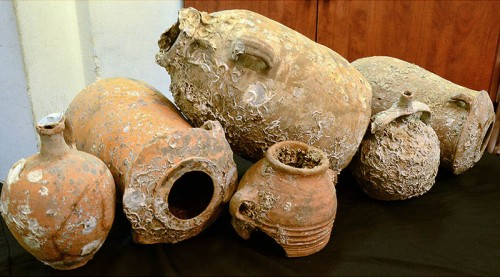 Sunken treasure from the Mediterranean. Photo: Israel Antiquities Authority