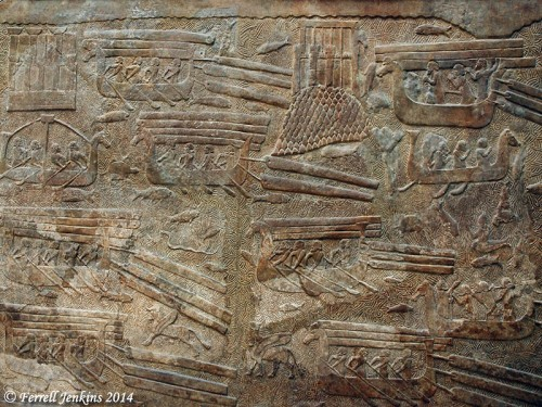 Assyrians transporting Cedars from Lebanon. Louvre. Photo by Ferrell Jenkins.