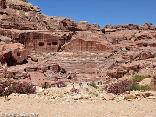 The Roman Theater at Petra. Photo by Ferrell Jenkins.
