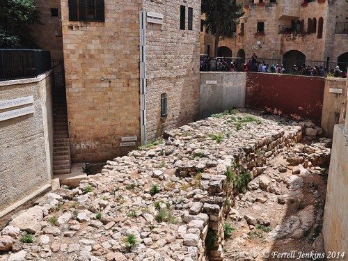 "The ""Broad Wall"" in Jerusalem. Photo by Ferrell Jenkins."