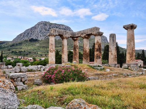 Ruins of the temple of Apollo at Corinth. Photo by Ferrell Jenkins.