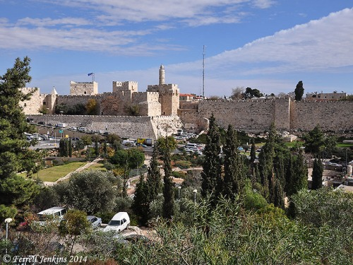 View of the Citadel and the Tower of David. Photo by Ferrell Jenkins.
