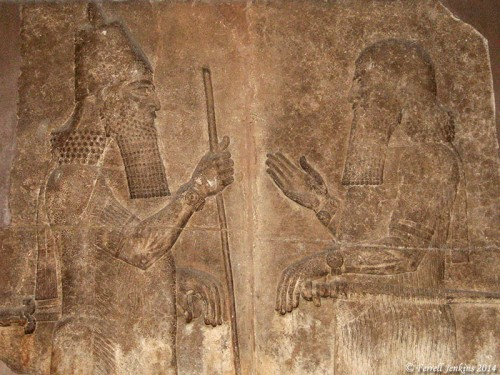 Sargon II received a minister. British Museum. Photo by Ferrell Jenkins.