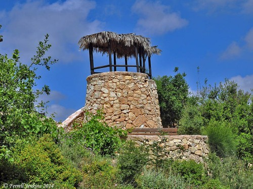 Watchtower at the Ibex Garden, Yad Hashmona. Photo by Ferrell Jenkins.