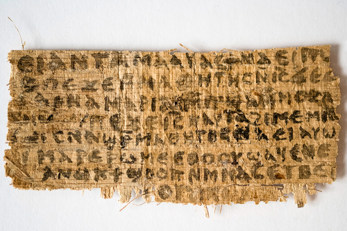 Papyrus fragment possibly claiming that Jesus has a wife. Photo: Harvard University, Dr. Karen L. King.