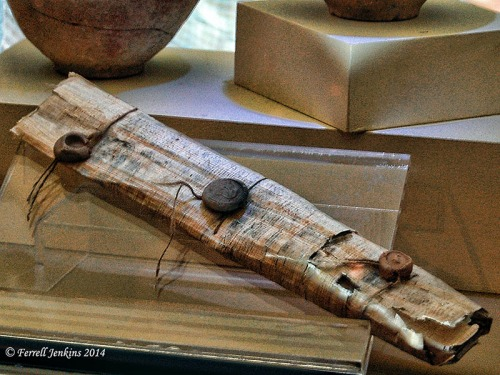 A sealed document displayed in the Gaziantep Museum. Photo by Ferrell Jenkins.