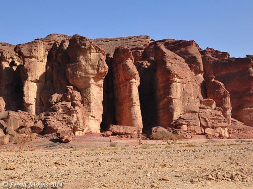 Solomon's Pillars at Timna in the desert of Paran. Photo by Ferrell Jenkins.