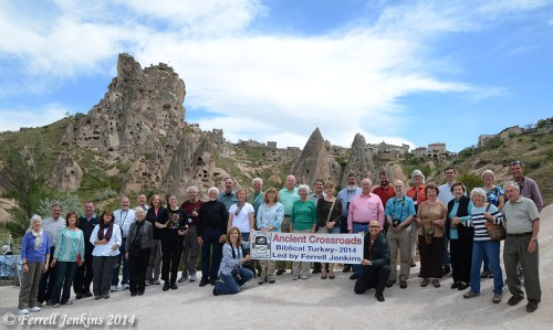 Ancient Crossroads Tour of Biblical and Historical Turkey. Photo taken at Uchisar in Cappadocia. Photo by Ferrell Jenkins.