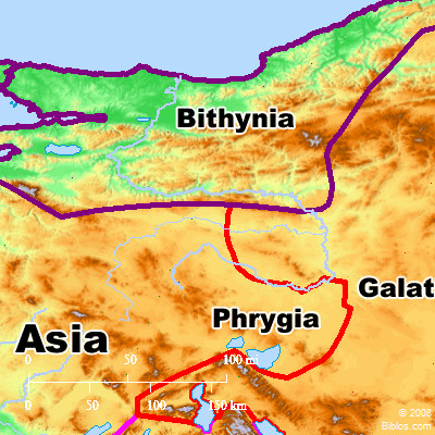 The Roman province of Bithynia. BibleAtlas.org.