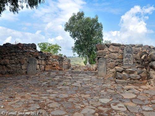 The Iron Age city gate at a town of Geshur. Photo by Ferrell Jenkins.