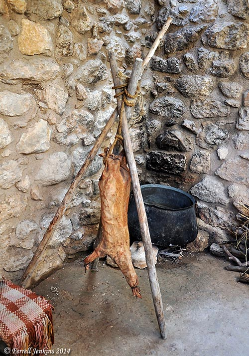 A churn in the kitchen. Nazareth Village. Photo by Ferrell Jenkins.