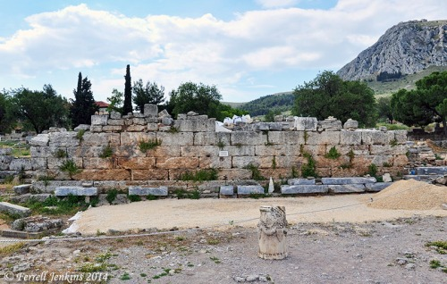 The Bema at Corinth where Paul stood before Gallio. Photo by Ferrell Jenkins.