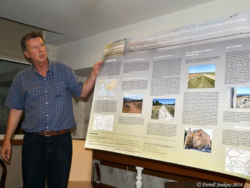 Dr. Mark Wilson speaks about the route of Paul's second journey. Photo by Ferrell Jenkins.