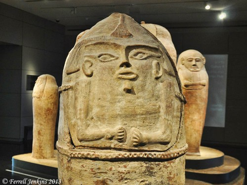 Anthropoid Coffins from Deir el-Balah in the Israel Museum. Photo by Ferrell Jenkins.