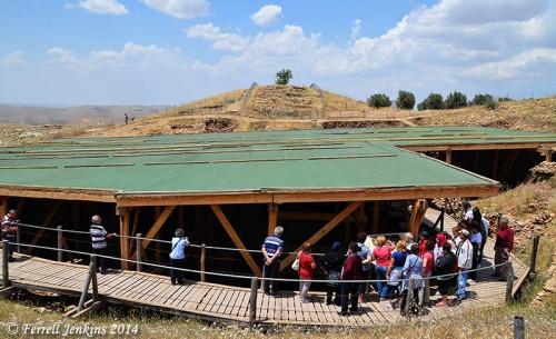 The enclosed area of Gobekli Tepe. Photo by Ferrell Jenkins.