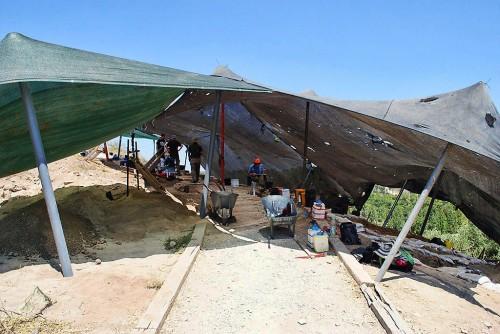 Tel Lachish, section B, 2014. Photo by Wayne Galloway.
