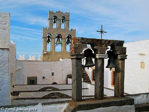 Bell tower on the Monastery of St. John the Theologian at Chora. Photo by Ferrell Jenkins.