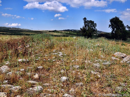 The Roman Road near Golani Junction in Galilee. This road collected Diocaesarea (Zephoris) and Tiberias. Photo by Ferrell Jenkins.