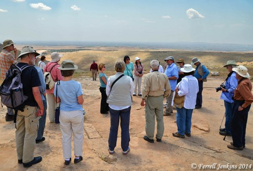 Professor Klaus Schmidt lecturing to an American group at Gobekli Tepe. Photo by Ferrell Jenkins.