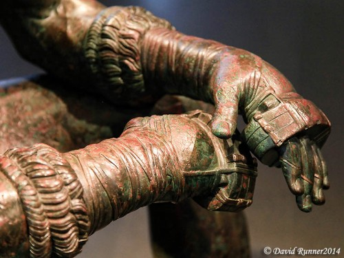 "Closeup of the hands of ""the Boxer"". Photo by David Runner."