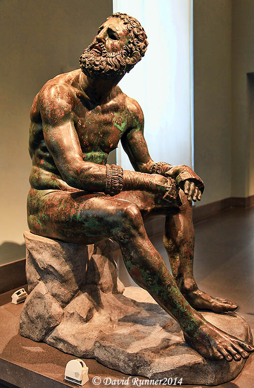 """The Boxer"" in the National Roman Museum. Photo by David Runner."