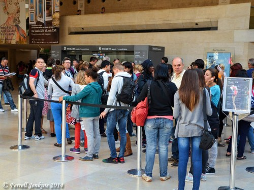 One of the ticket lines at the Louvre. Photo by Ferrell Jenkins.