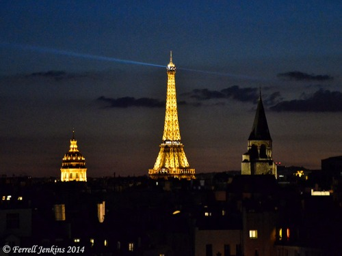 Paris at Night. Photo by Ferrell Jenkins.