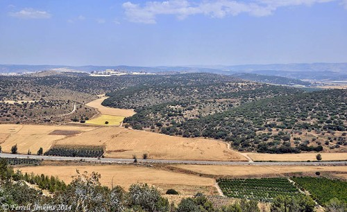 View from Azekah toward Bet Shemesh and Tell Yarmuth (Jarmuth). Photo by Ferrell Jenkins.