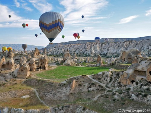 Ballooning Over Cappadocia in Turkey. Photo by Ferrell Jenkins.