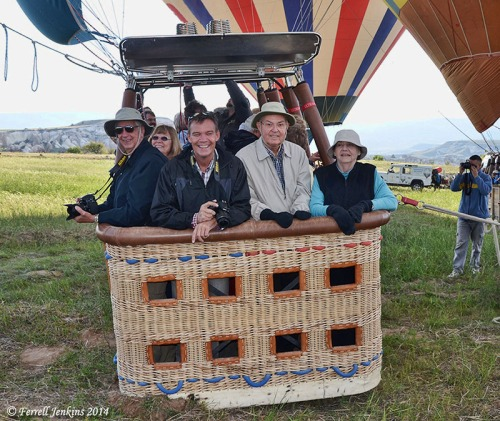 Taking Off for a Balloon Flight Over Cappadocia.