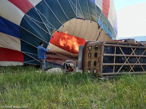 Inflating a Balloon for Flight. Photo by Ferrell Jenkins.