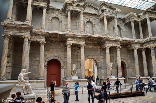The recently renovated Miletus Market Gate in the Pergamum Museum, Berlin. Photo by Ferrell Jenkins.