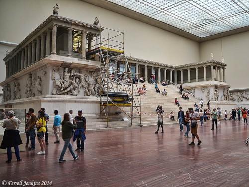 The Pergamum Altar in the Pergamum Museum. Photo by Ferrell Jenkins.