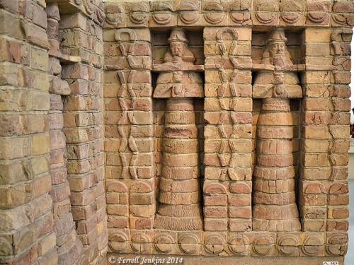 Portion of the façade of the Inanna/Ishtar Temple at Warka (Uruk/Erech). Photo by Ferrell Jenkins.