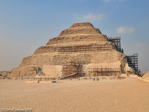 The Step Pyramid of Zoser at Saqqara. Photo by Ferrell Jenkins.
