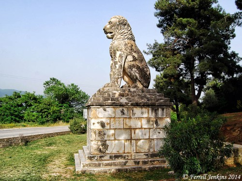 The Lion of Amphipolis from the 4th century B.C. Photo by Ferrell Jenkins.