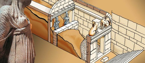 Drawing showing progress of the excavation. Source: Greek Reporter.