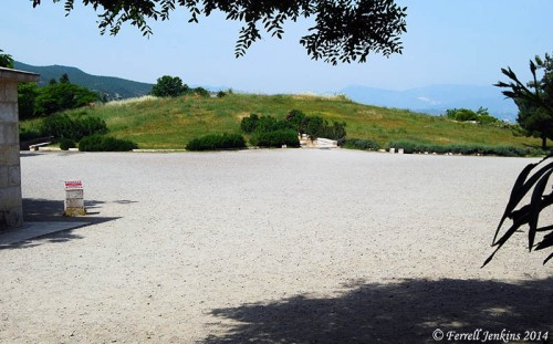 Tumulus covering the Royal Tombs at Vergina. Photo by Ferrell Jenkins.