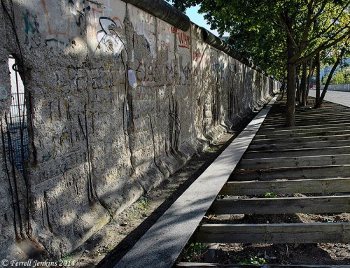 A portion of the Berlin Wall was left as a reminder of a sad time in the history of the city. Photo by Ferrell Jenkins in 2004.