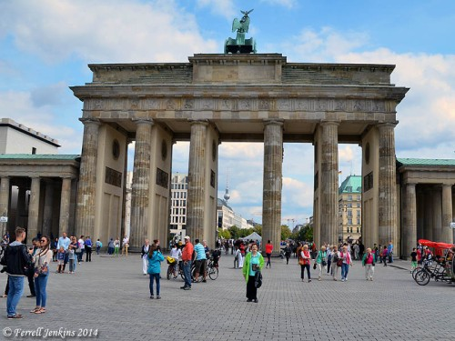 The Brandenburg Gate in August, 2014. Photo by Ferrell Jenkins.