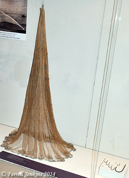 Cast-Net and fish hooks. Eretz Israel Museum. Photo by Ferrell Jenkins.