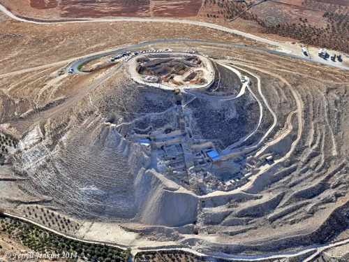 Aerial view of the Herodium. Photo by Ferrell Jenkins.