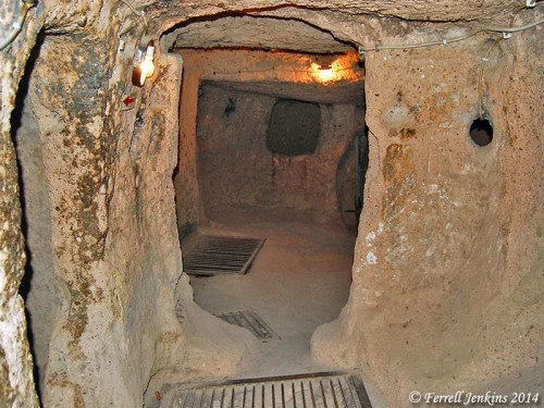 Kaymakli Underground City in Cappadocia. Photo by Ferrell Jenkins.