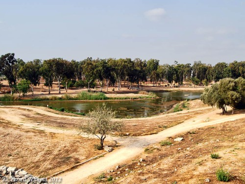 Source of the Yarkon River at Aphek/Antipatris. Photo by Ferrell Jenkins.