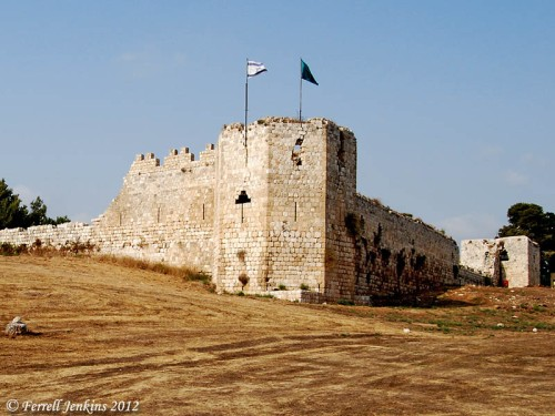 The Crusader castle of Mirabel, later used as a Turkish fortress. Photo by Ferrell Jenkins.