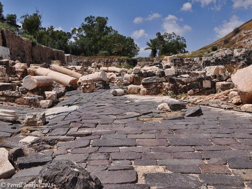 Some of the earthquake damage at Bethshan. Photo by Ferrell Jenkins.